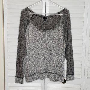 Torrid Size 2 Two Tone Raglan Pullover Sweater Top